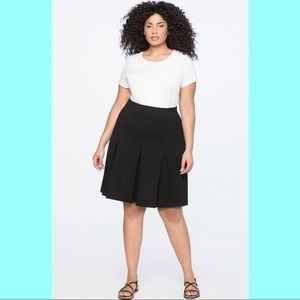 Eloquii Black Skirt With Pleats size 18